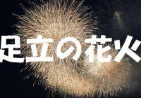 """東京の一足早い花火大会""""足立の花火""""で場所取りするなら\_(・ω・`)ココ!"""